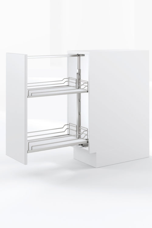 Base Pullout Chrome White Kesseboehmer USAjpg