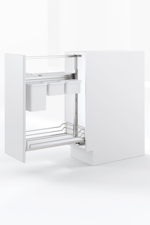 Base Pullout YouBoxx Chrome White Kesseboehmer USA