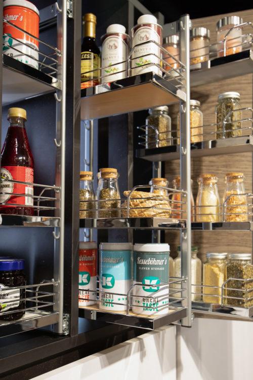 Spice Rack Chrome Maple Kesseboehmer USA